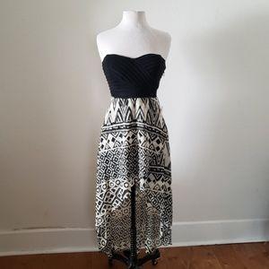 Tribal strapless dress